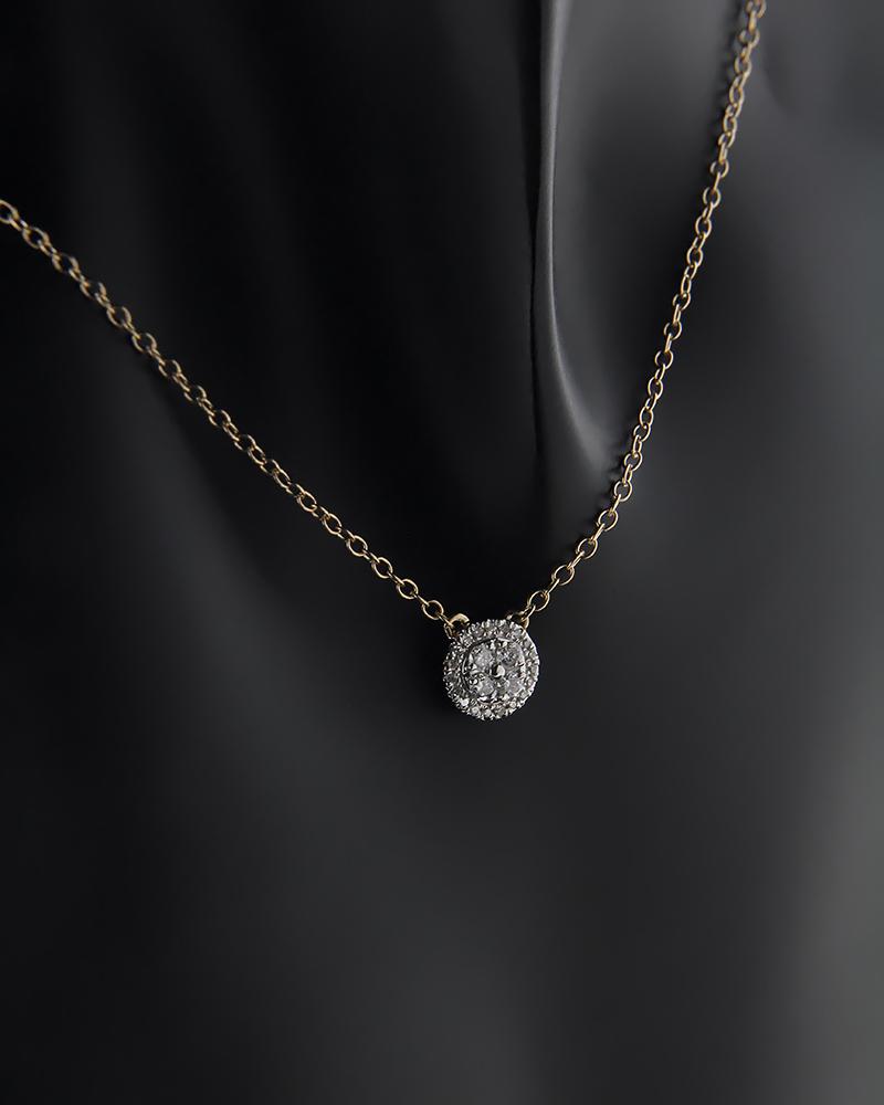 Κολιέ χρυσό Κ14 με Διαμάντια   γυναικα κρεμαστά κολιέ κρεμαστά κολιέ χρυσά