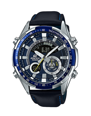 Ρολόι CASIO Edifice Blue Leather Chronograph ERA-600L-2AVUEF
