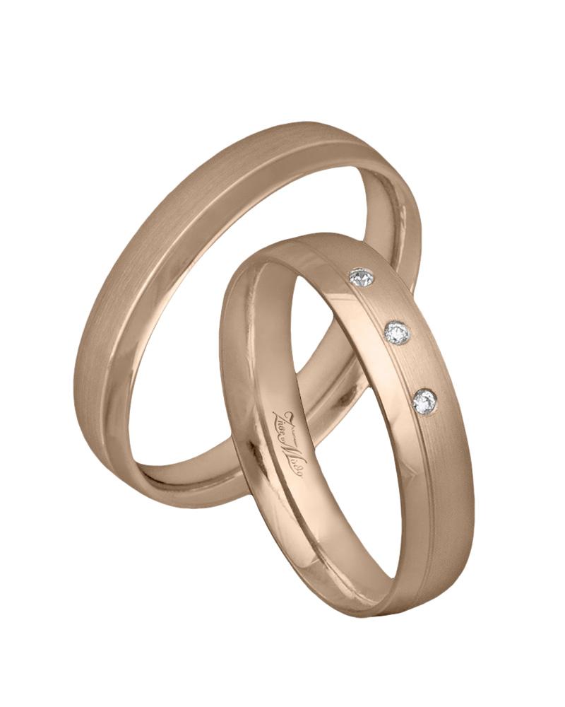 Χειροποίητη βέρα ροζ χρυσό Κ14 με διαμάντια   γαμοσ βέρες γάμου   αρραβώνα βέρες ροζ χρυσές