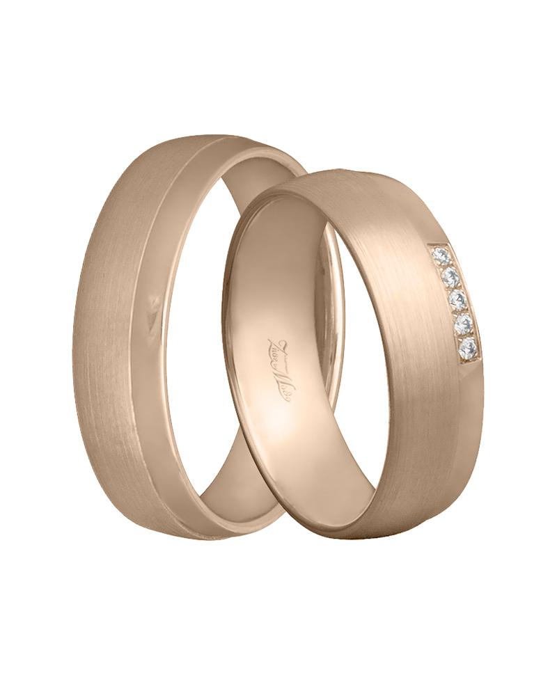 Χειροποίητη βέρα ροζ χρυσό Κ14 με διαμάντια XV00811   γαμοσ βέρες γάμου   αρραβώνα βέρες ροζ χρυσές
