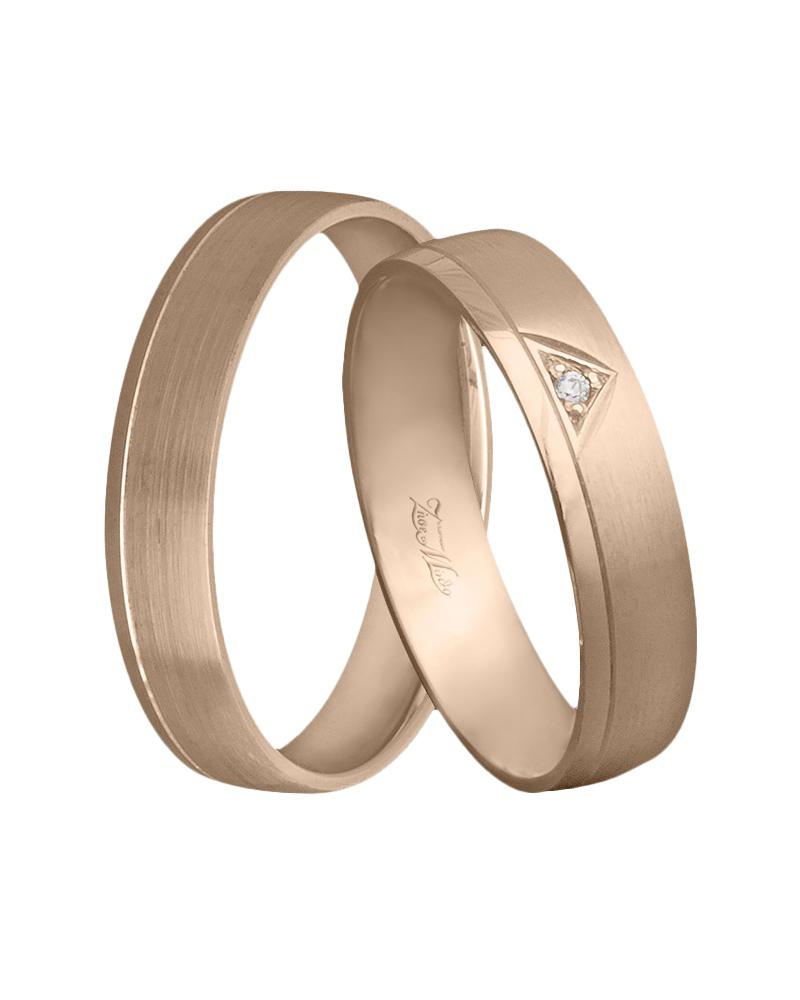 Χειροποίητη βέρα ροζ χρυσό Κ14 με διαμάντι   γαμοσ βέρες γάμου   αρραβώνα βέρες ροζ χρυσές