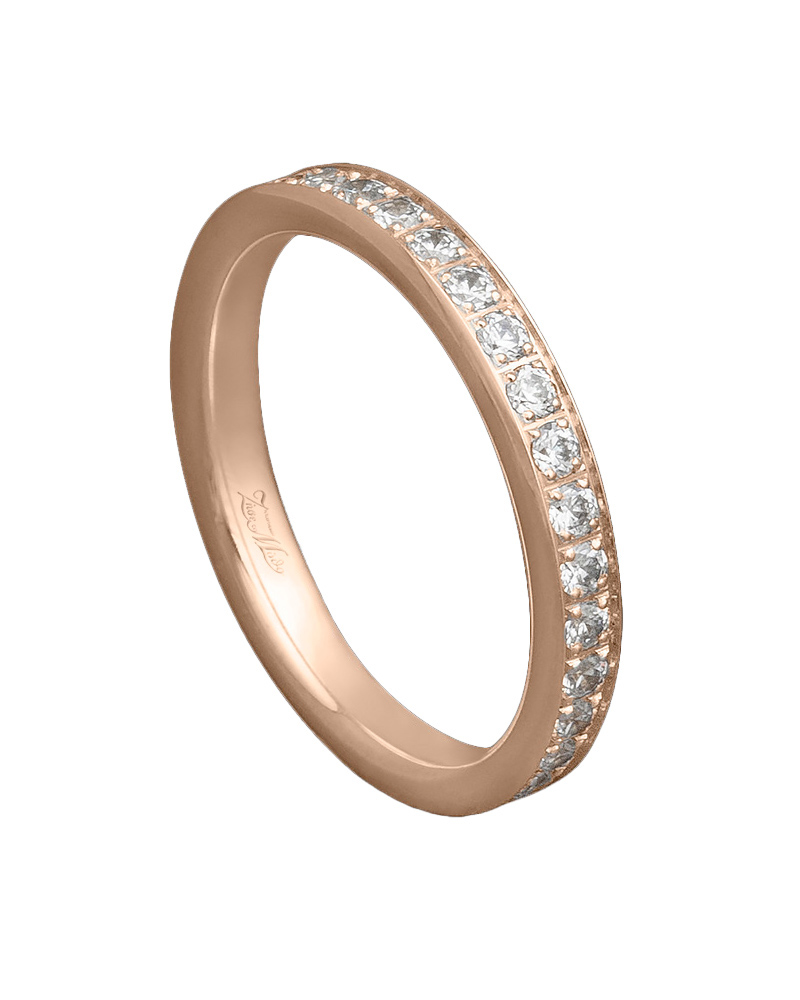 Χειροποίητη βέρα ροζ χρυσό Κ14 με διαμάντια   ζησε το μυθο βέρες γάμου   αρραβώνα βέρες ροζ χρυσές