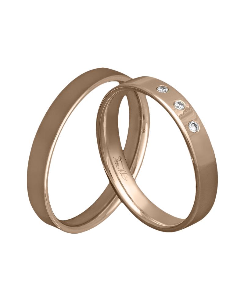 Χειροποίητη βέρα ροζ χρυσό με διαμάντια Κ14   ζησε το μυθο βέρες γάμου   αρραβώνα βέρες ροζ χρυσές