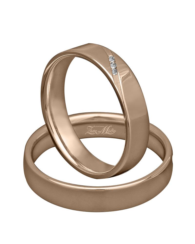 Βέρα ροζ χρυσό με διαμάντια Κ14 XV00780   γαμοσ βέρες γάμου   αρραβώνα βέρες ροζ χρυσές