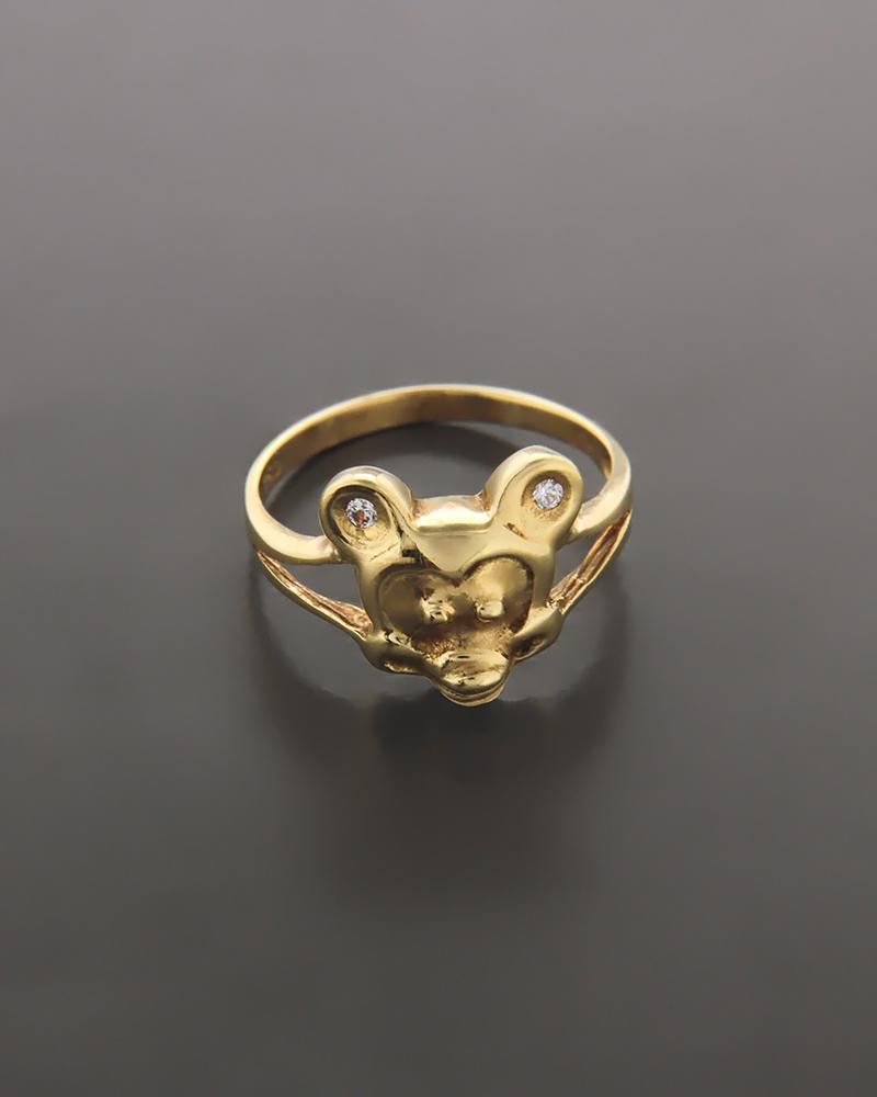 Παιδικό δαχτυλίδι χρυσό Κ18 με ζιργκόν   παιδι δαχτυλίδια παιδικά