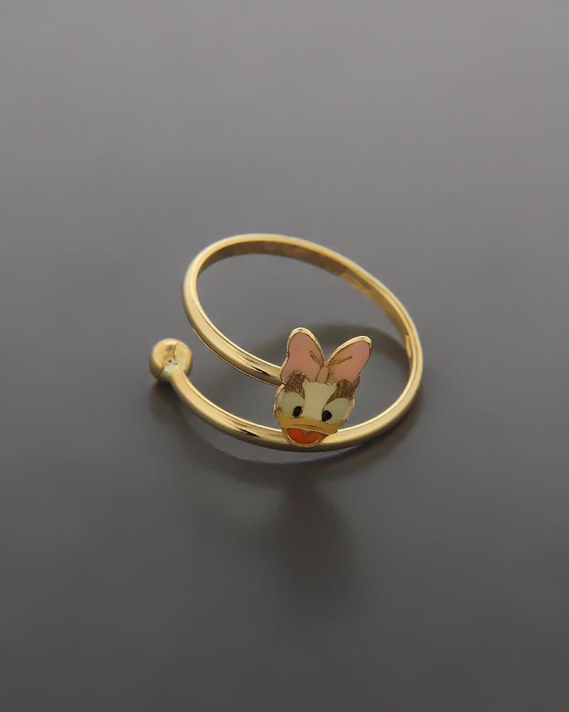 Δαχτυλίδι παιδικό χρυσό Κ18 με σμάλτο   παιδι δαχτυλίδια παιδικά