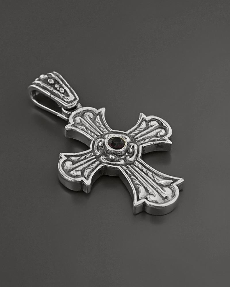 Βυζαντινός Σταυρός από ασήμι με Γρανάδα   ανδρασ σταυροί ανδρικοί