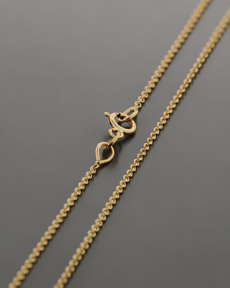 Αλυσίδα λαιμού χρυσή K14 40cm   κοσμηματα αλυσίδες λαιμού αλυσίδες χρυσές