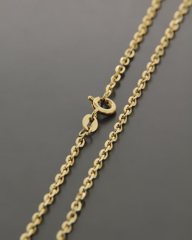 Αλυσίδα λαιμού χρυσή K14 50cm   παιδι αλυσίδες λαιμού αλυσίδες χρυσές