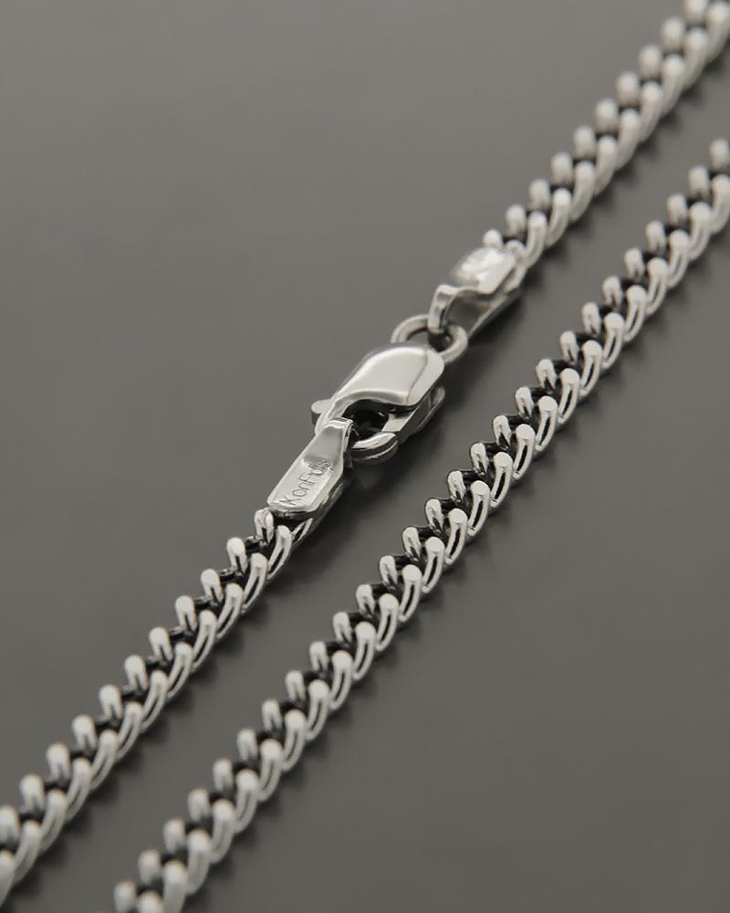 Αλυσίδα λαιμού λευκόχρυση K14 50cm   παιδι αλυσίδες λαιμού αλυσίδες λευκόχρυσες