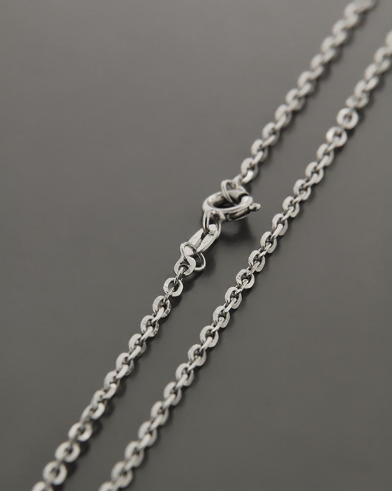 Αλυσίδα λαιμού λευκόχρυση K14 45cm   γυναικα αλυσίδες λαιμού αλυσίδες λευκόχρυσες