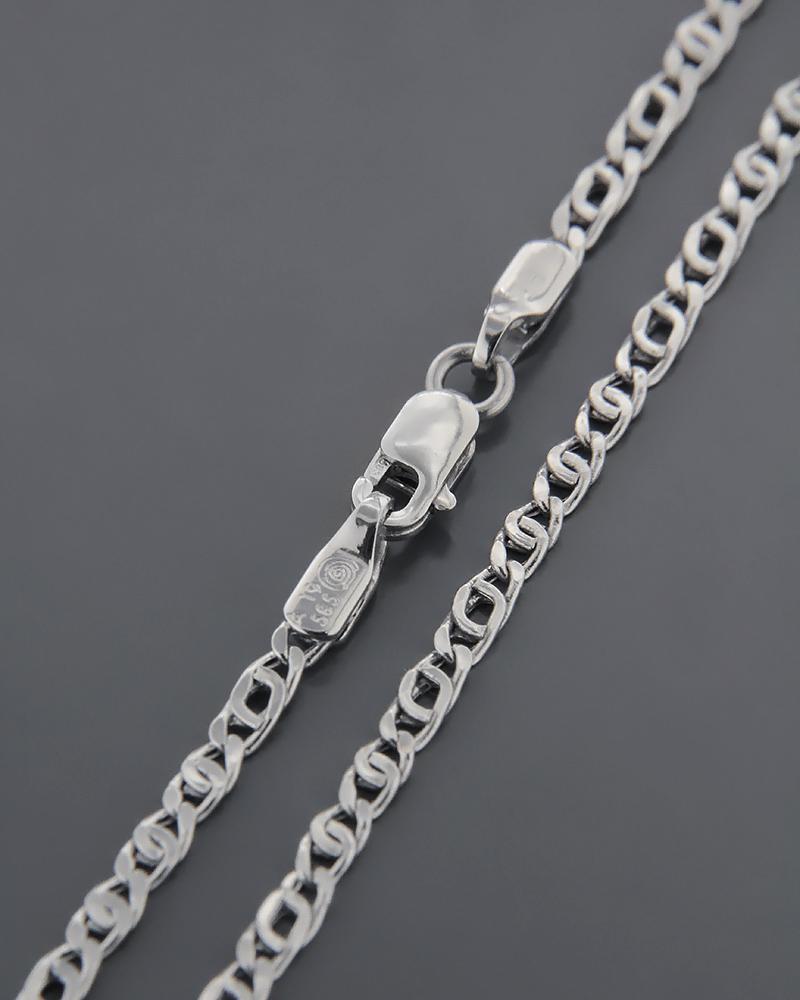 Αλυσίδα λαιμού λευκόχρυση K14 56cm   παιδι αλυσίδες λαιμού αλυσίδες λευκόχρυσες