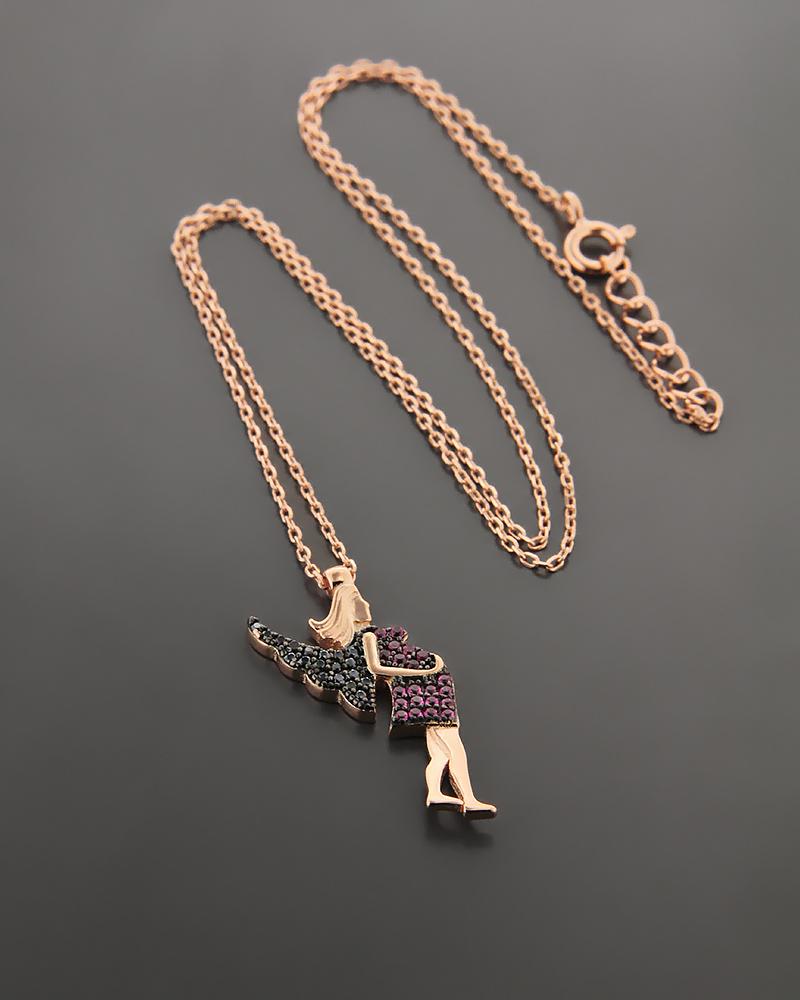 Ασημένιο Κολιέ με Ζιργκόν ZN764   γυναικα κοσμήματα για τη μαμά