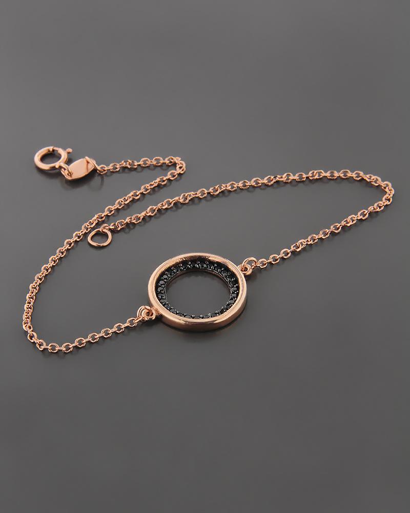 Βραχιόλι ροζ χρυσό Κ14 με Ζιργκόν  78543e00579