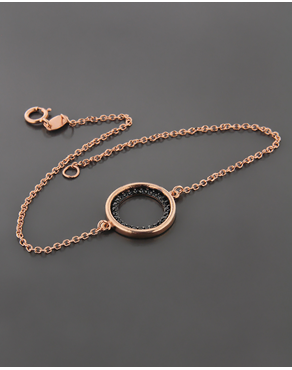 Βραχιόλι ροζ χρυσό Κ14 με Ζιργκόν a178a0247fc