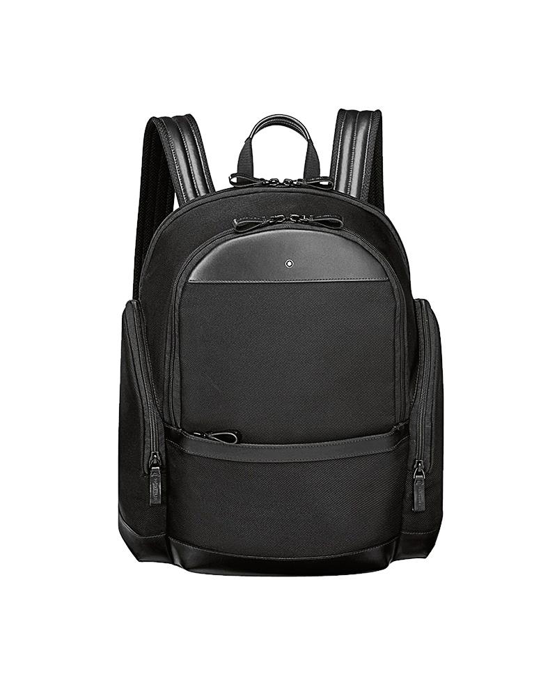 Montblanc Σακίδιο Μαύρο Nightflight Backpack Medium 114641   brands montblanc δερμάτινα είδη   αξεσουάρ
