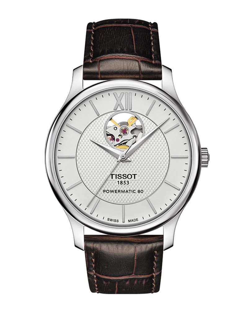 Ρολόι TISSOT T-Classic Tradition Powermatic 80 T0639071603800   brands tissot t classic
