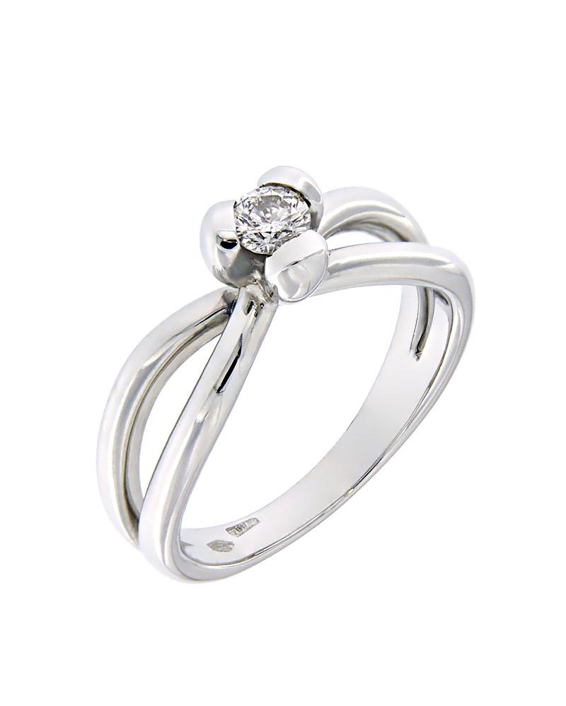 Δαχτυλίδι λευκόχρυσο Κ18 με Διαμάντι   γυναικα δαχτυλίδια δαχτυλίδια διαμάντια