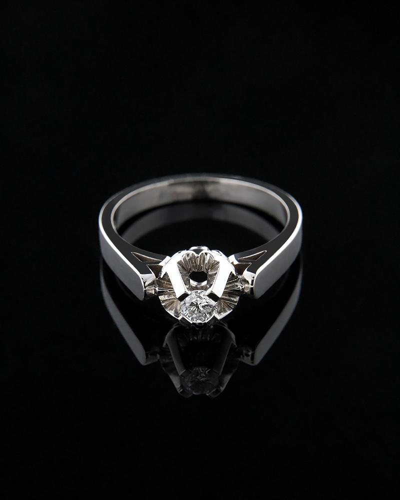 Μονόπετρο δαχτυλίδι λευκόχρυσο Κ18 με Διαμάντια   ζησε το μυθο μονόπετρα μονοπετρα με διαμάντια