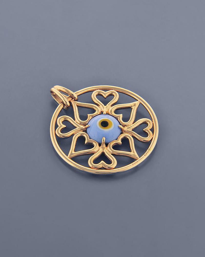 Κρεμαστό μάτι ροζ χρυσό Κ18   γυναικα κοσμήματα με ματάκι