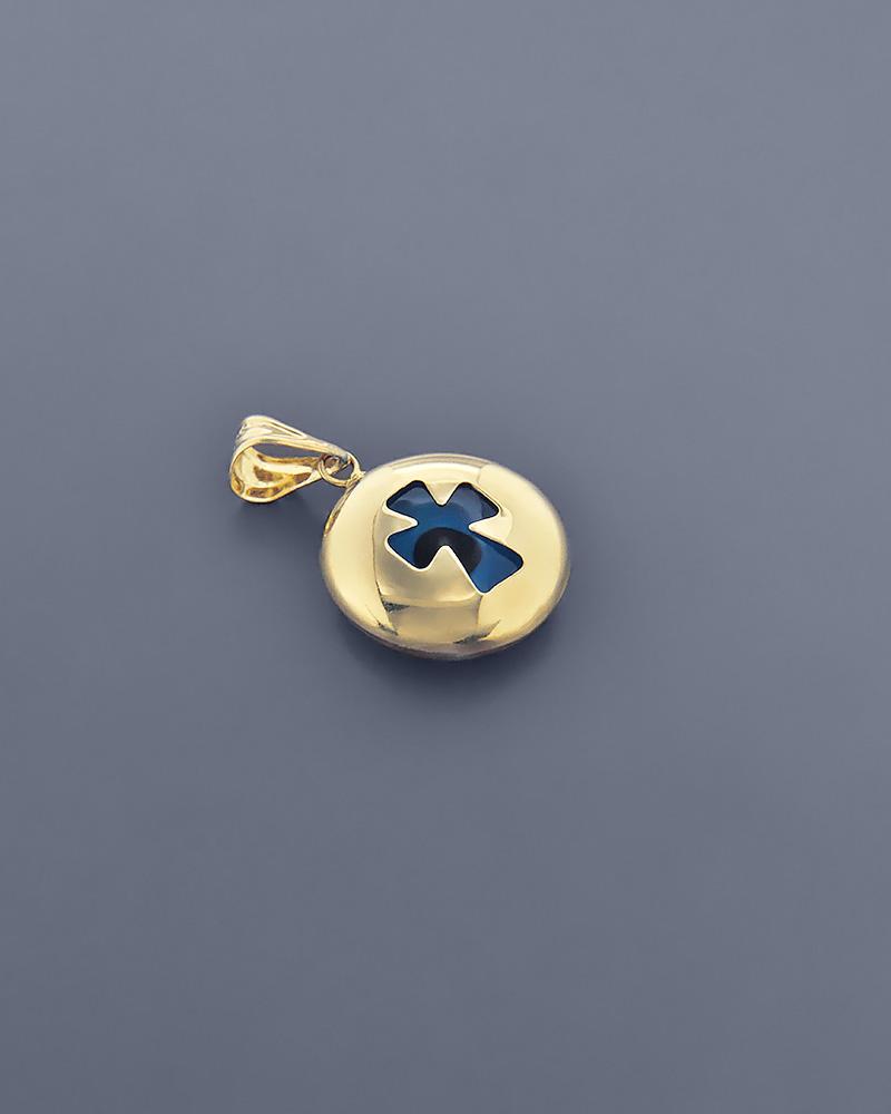 Κρεμαστό μάτι σταυρός χρυσό Κ14   κοσμηματα κρεμαστά κολιέ κρεμαστά κολιέ παιδικά