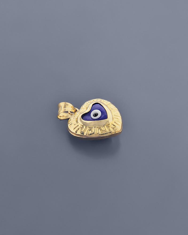 Κρεμαστό μάτι καρδιά χρυσό Κ14   κοσμηματα κρεμαστά κολιέ κρεμαστά κολιέ παιδικά