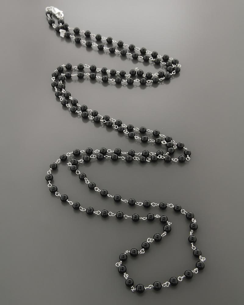 Κολιέ λευκόχρυσο Κ18 με Όνυχα   γυναικα κρεμαστά κολιέ κρεμαστά κολιέ λευκόχρυσα
