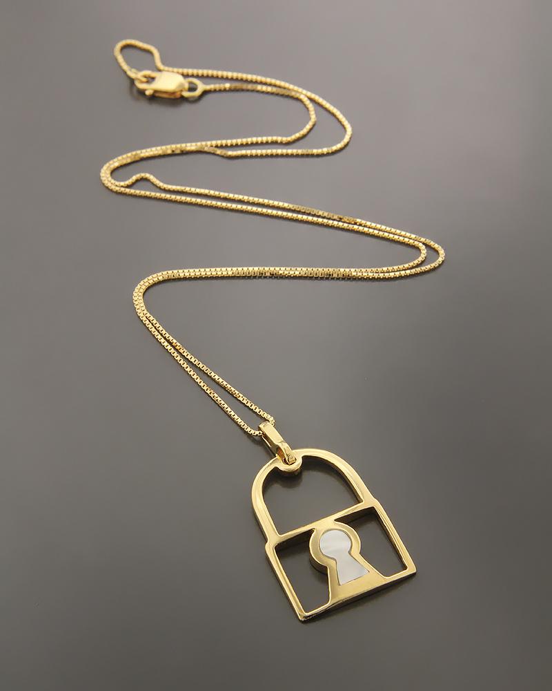 Κολιέ χρυσό Κ18 με Φίλντισι   γυναικα κρεμαστά κολιέ κρεμαστά κολιέ χρυσά