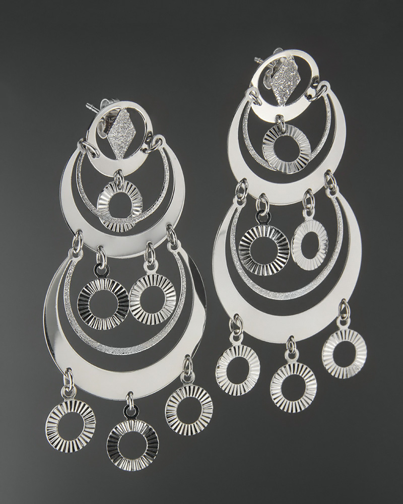 Σκουλαρίκια λευκόχρυσα Κ18   γυναικα σκουλαρίκια σκουλαρίκια λευκόχρυσα