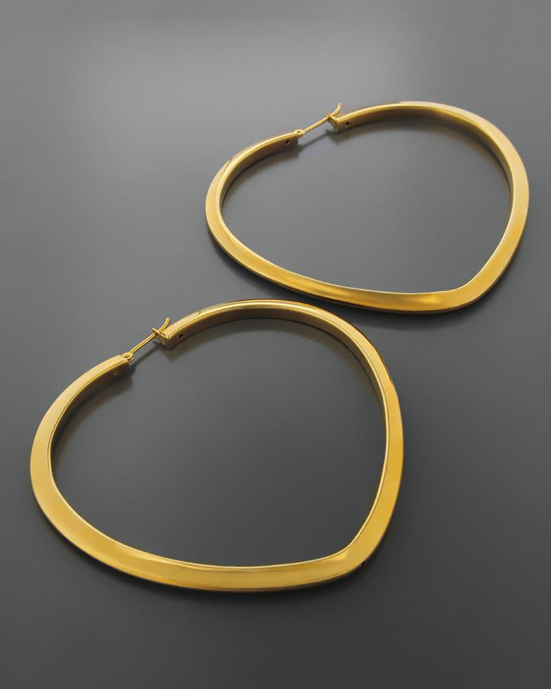 Σκουλαρίκια καρδιά χρυσά Κ14