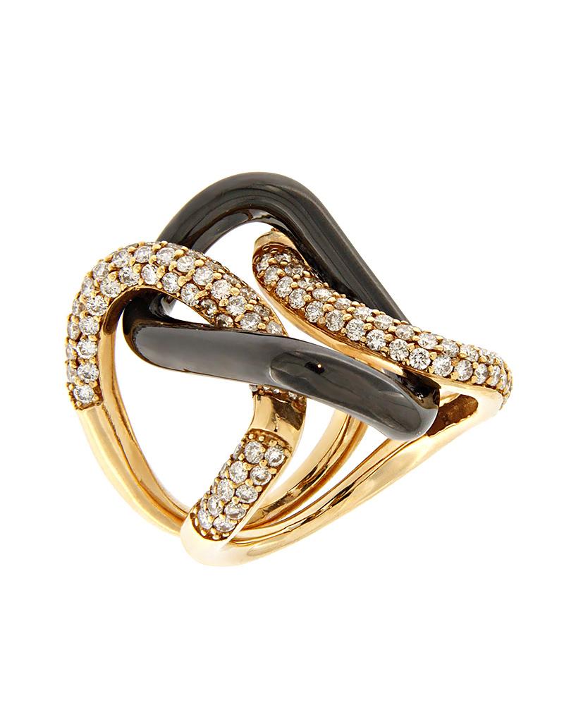 Δαχτυλίδι ροζ χρυσό & λευκόχρυσο Κ18 με Διαμάντια   γυναικα δαχτυλίδια δαχτυλίδια διαμάντια