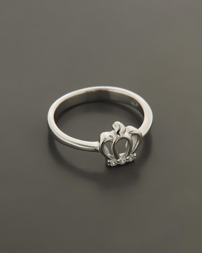 Δαχτυλίδι ασημένιο με Ζιργκόν  751a6c604e3