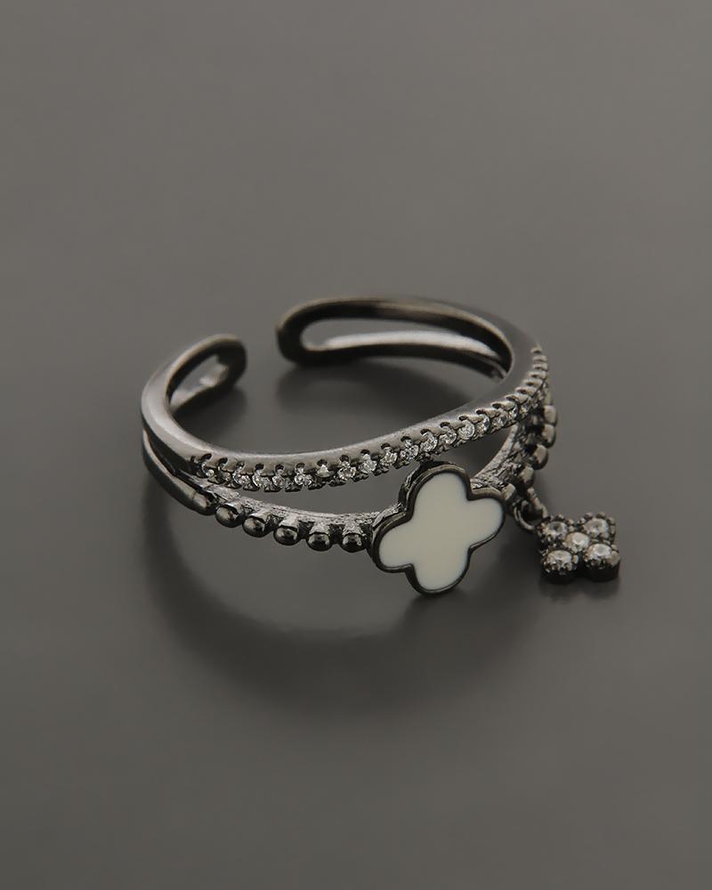 Δαχτυλίδι ασημένιο με Σμάλτο και Ζιργκόν   γυναικα δαχτυλίδια δαχτυλίδια ασημένια