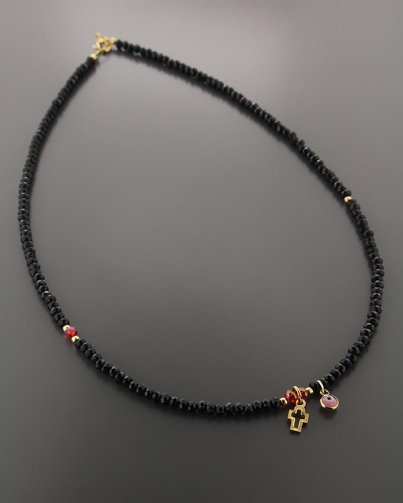 Κολιέ Ματάκι και Σταυρός ασημένιο   γυναικα κοσμήματα με ματάκι