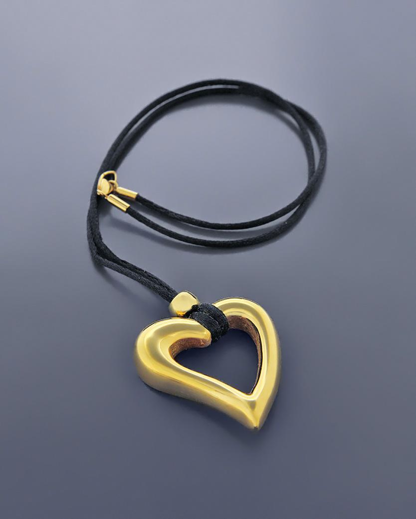 Kολιέ καρδιά χρυσό Κ14   κοσμηματα κρεμαστά κολιέ κρεμαστά κολιέ καρδιές
