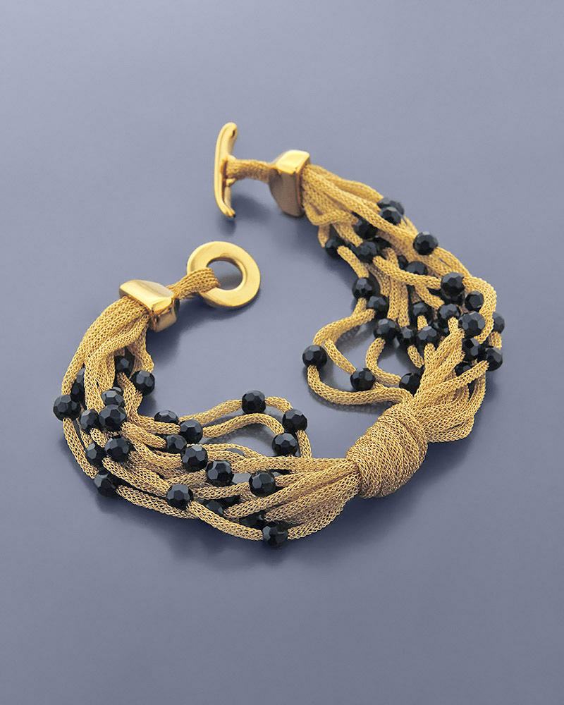 Βραχιόλι χρυσό K18 με Όνυχα   γαμοσ σετ κοσμήματα