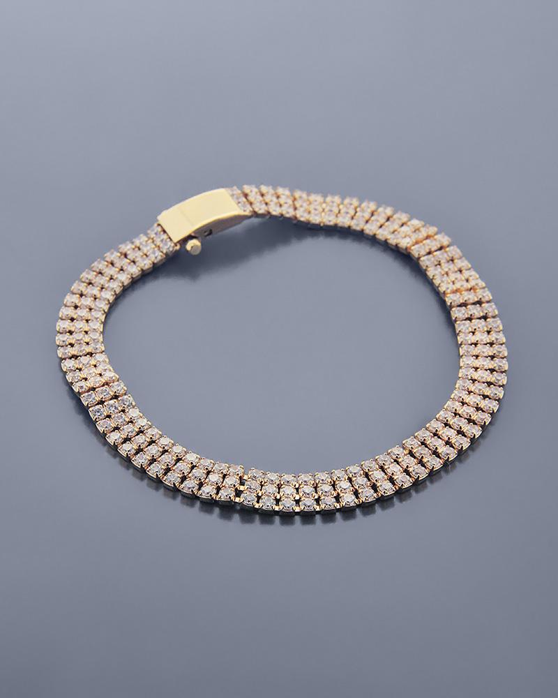 Βραχιόλι χρυσό K14 με Ζιργκόν   κοσμηματα σετ κοσμήματα