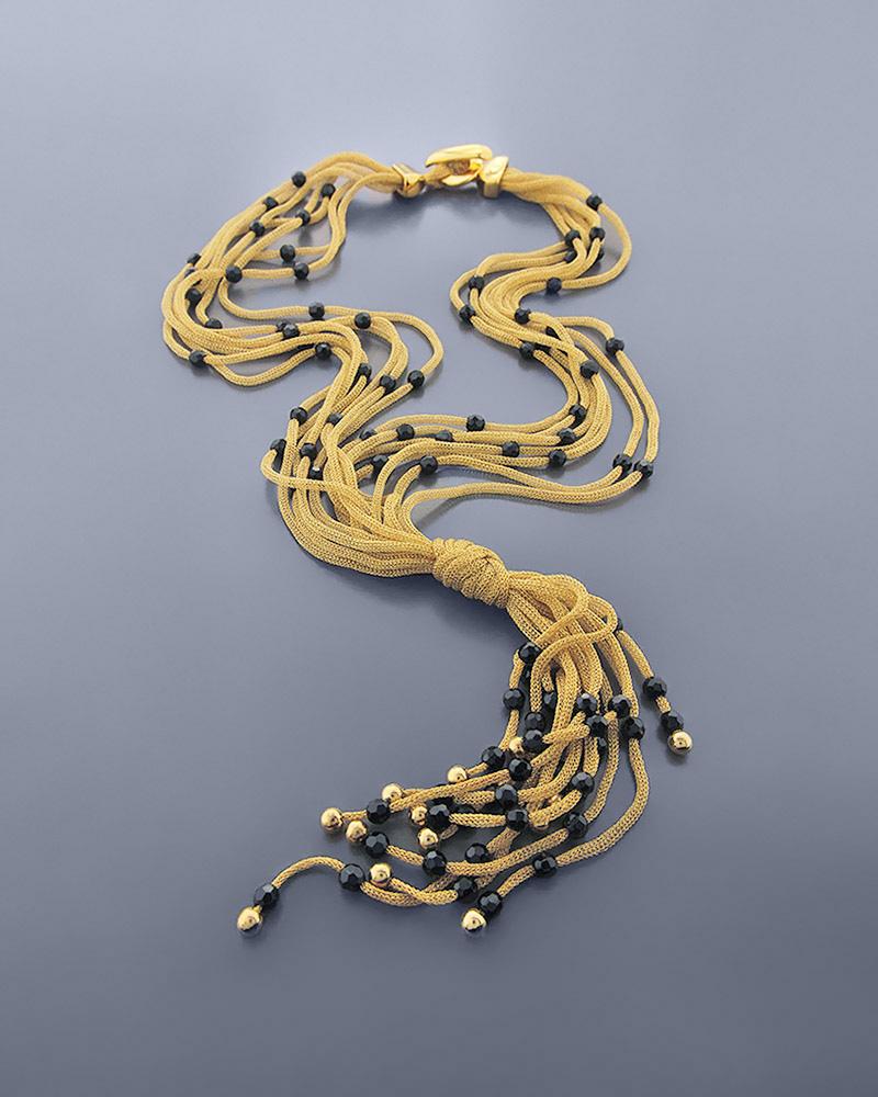 Κολιέ χρυσό K18 με Όνυχα   γαμοσ σετ κοσμήματα