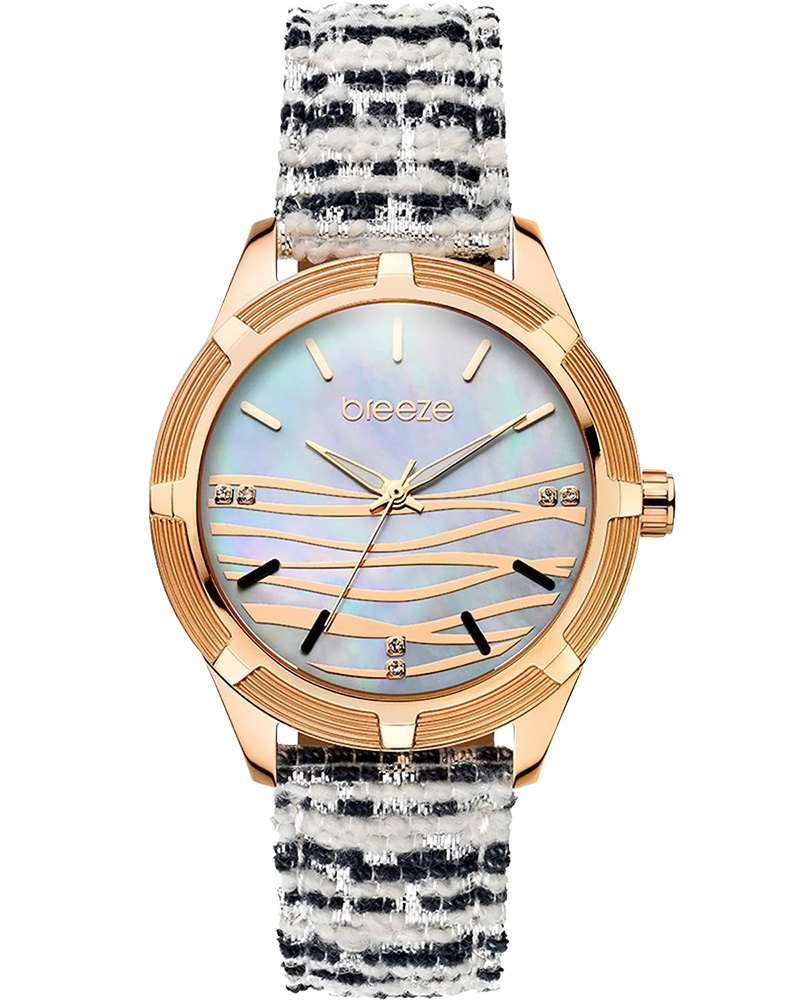 BREEZE Gloriosa Crystals Two Tone Combined Strap 110651.5   brands breeze