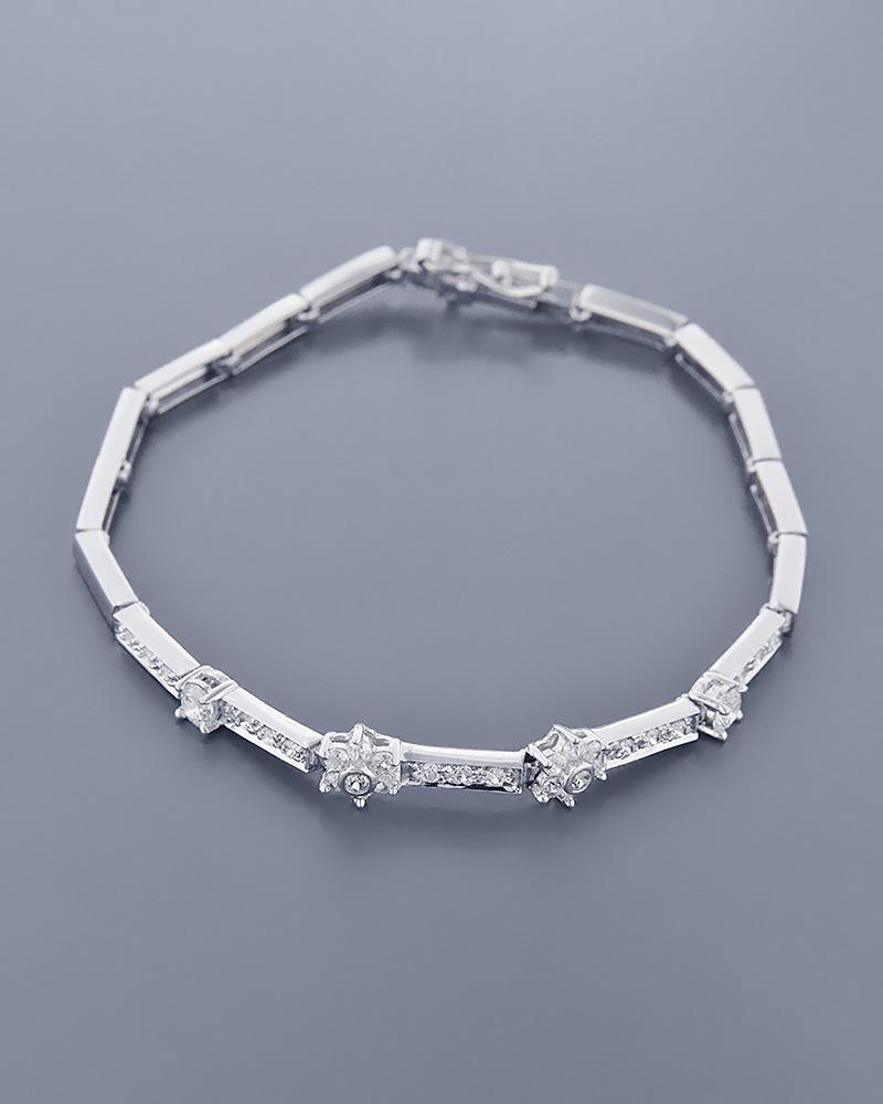 Κολιέ λευκόχρυσο Κ14 με Ζιργκόν   ζησε το μυθο σετ κοσμήματα