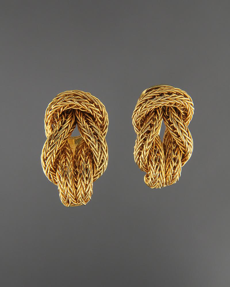 Σκουλαρίκια χρυσά Κ18   γαμοσ σετ κοσμήματα