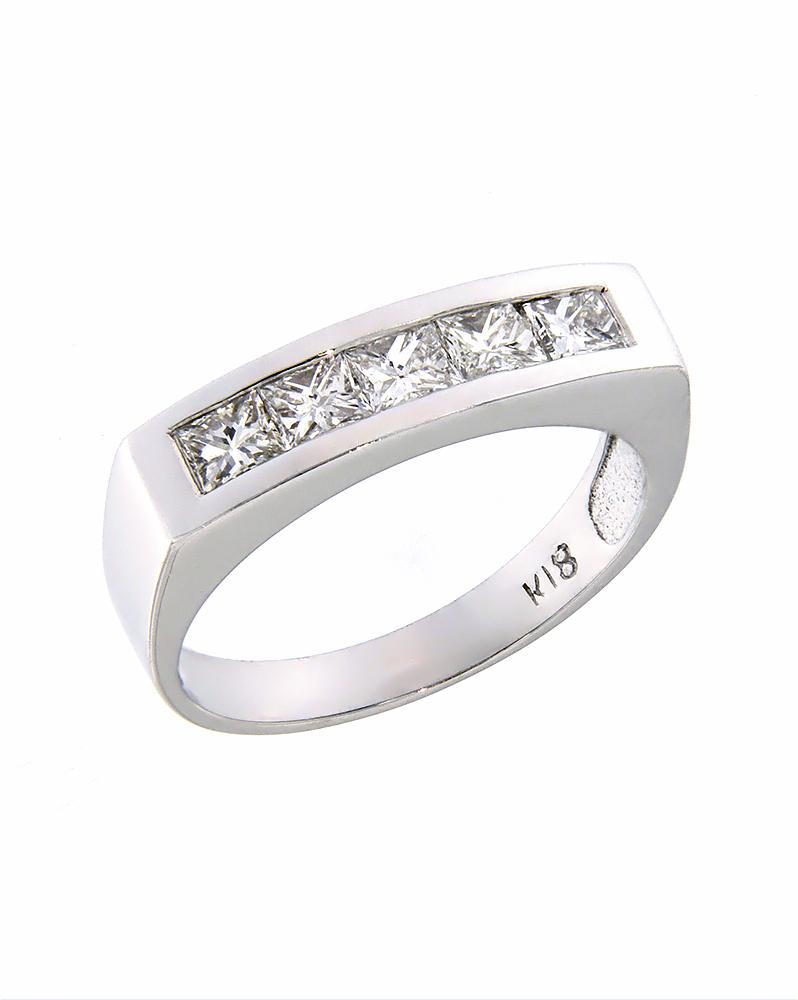 Δαχτυλίδι λευκόχρυσο Κ18 με Διαμάντια   κοσμηματα δαχτυλίδια δαχτυλίδια σειρέ
