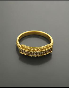 Δαχτυλίδι χρυσό Κ18 με Ζιργκόν 04dd7b11f34
