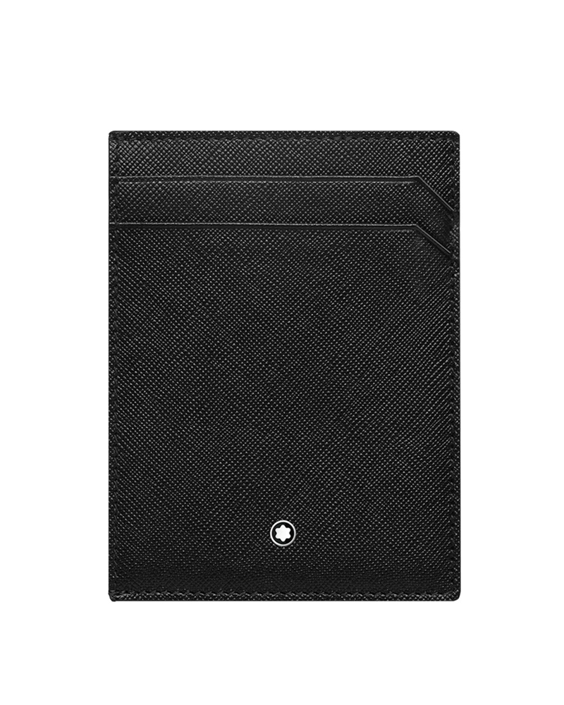 Montblanc Θήκη καρτών Μαύρη Sartorial Pocket 4cc with ID 116340   brands montblanc δερμάτινα είδη   αξεσουάρ