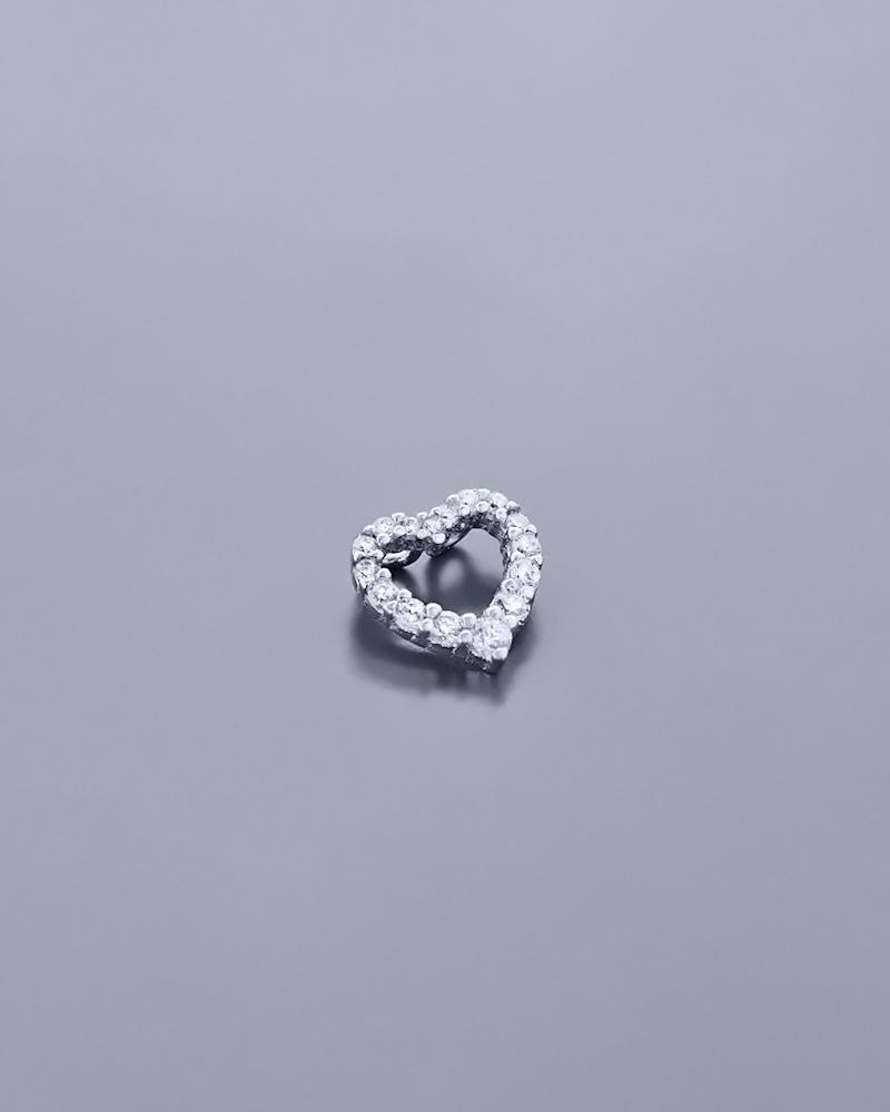 Κρεμαστό ασημένιο Καρδιά με Ζιργκόν   γυναικα κοσμήματα με καρδιές
