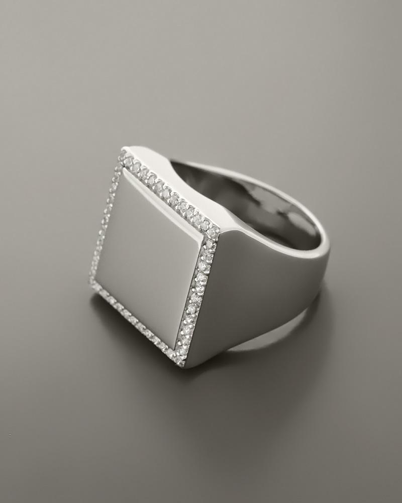 Δαχτυλίδι ασημένιο 925 με Ζιργκόν   γυναικα δαχτυλίδια δαχτυλίδια chevalier