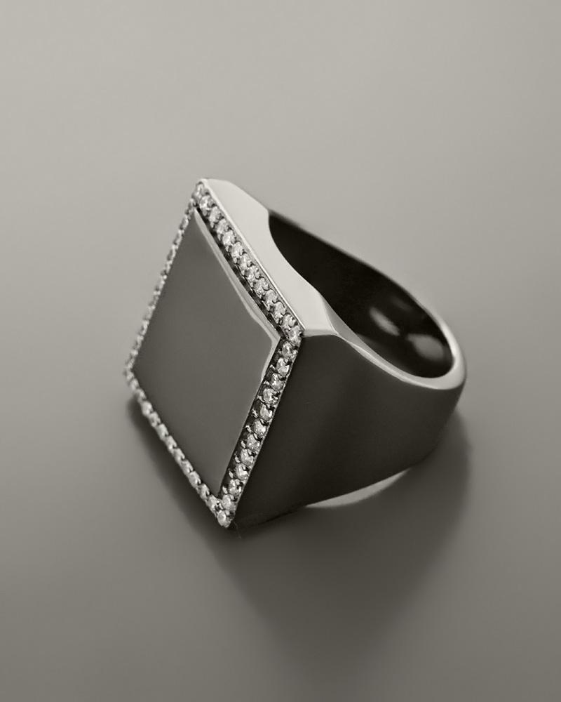 Δαχτυλίδι chevalier ασημένιο 925 με Ζιργκόν   γυναικα δαχτυλίδια δαχτυλίδια ασημένια