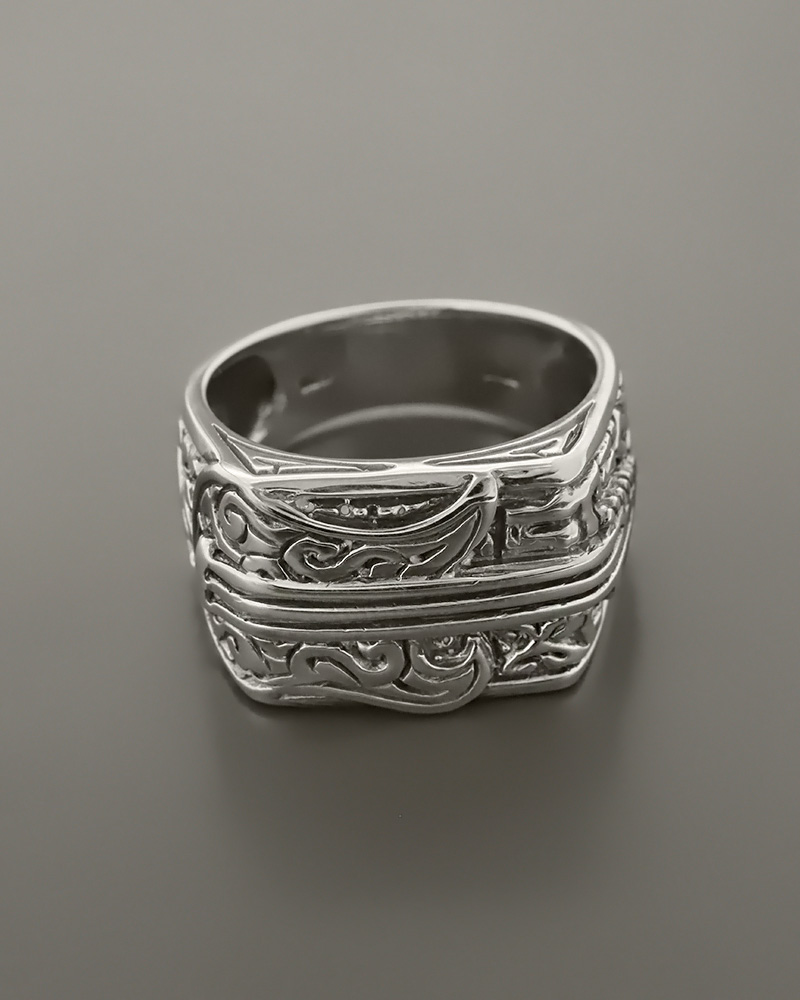 Δαχτυλίδι ανδρικό ασημένιο 925