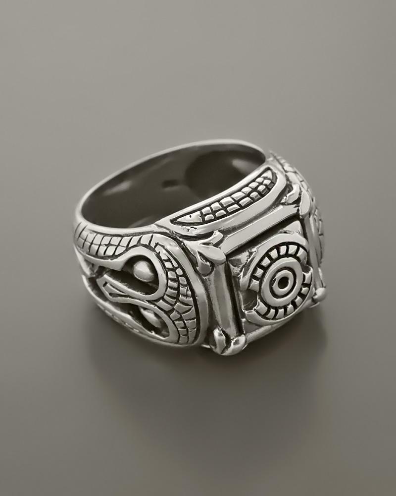 ef5e2a439f Δαχτυλίδι ανδρικό ασημένιο 925