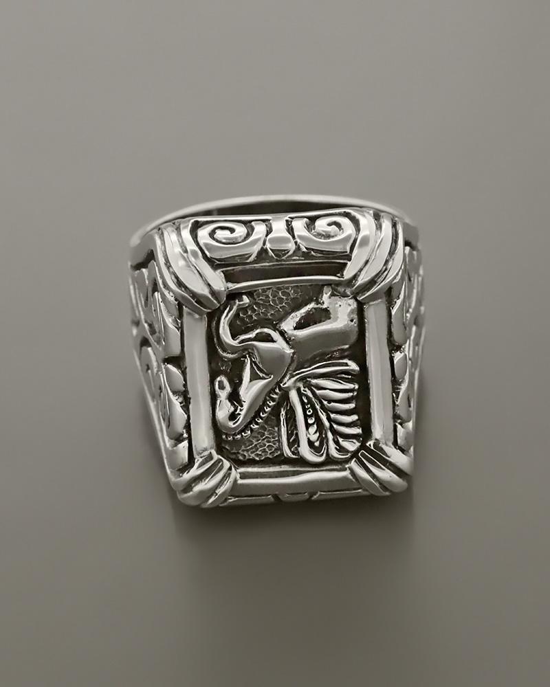 Δαχτυλίδι Πήγασος ασημένιο 925